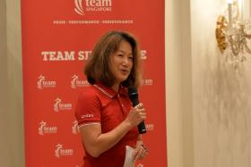 GRACE THROUGH THE YEARS: (2015) Grace Young at a dinner at the Istana for Team Singapore athletes in February.