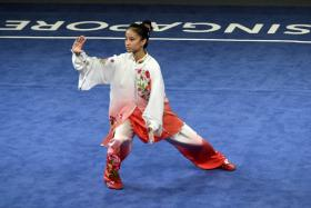 Singapore's Vera Tan in action during the women's compulsory taijiquan final at the 28th SEA Games.
