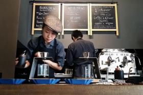 COFFEE CONNOISSEUR: Cafe owner Miss Tiffany Chan (above) imports and roasts the coffee beans herself to 'craft a specific flavour profile'.