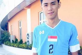 UNFORTUNATE: Muhammad Azreen Sairudin (above) was returning to the hotel where the Singapore team are staying when the accident happened.