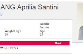Screengrab of Aprilia Santini Manganang's biography on the SEA Games website.