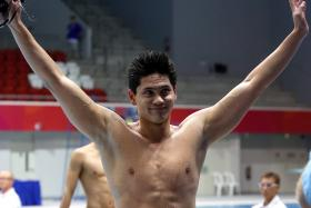 """I think my dad is more excited about me breaking Uncle Peng Siong's record than I am, so I also did it for him."" - Joseph Schooling (above)"