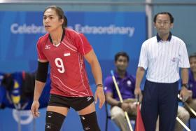 Indonesia's Aprilia Santini Manganang (left) has been the centre of a gender controversy at the 28th SEA Games.