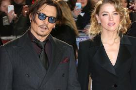 Johnny Depp (left) and Amber Heard.