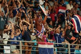 Thailand fans at the match against Laos, Bishan Stadium, May 29