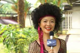 Michelle Chong in character as Lulu, as popularised on news satire show The Noose.