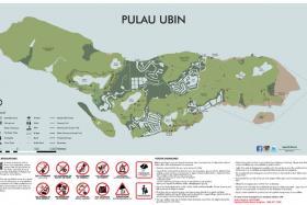 New map of Pulau Ubin.