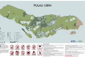New map of Pulau Ubin.