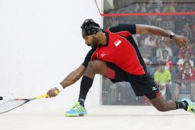 Singapore squash player Vivian Rhamanan in action during the 28th SEA Games.