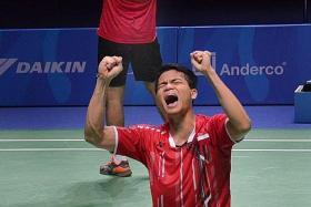 ECSTATIC: Ricky Karandasuwardi (sitting) and Angga Pratama.