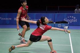 GOLD: The new pairing of Jordan (left) and Susanto (right) make their mark for Indonesia.