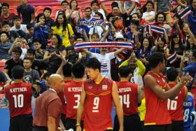 GOLDEN GLITTER: The Thai men (above) and their women are the best in Southeast Asia in volleyball.