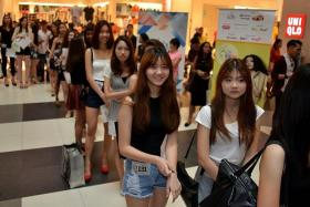 AM I IN? Hopefuls waiting for their turn on stage at the New Face 2015 walk-in auditions last week. Rinna Murni