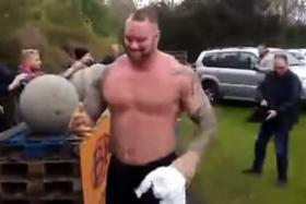 Hafthor Julius Bjornsson, also known as Game of Thrones' The Mountain, has won the title of Iceland's strongest man for the fifth consecutive year.