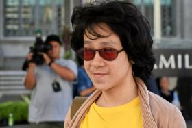 Amos Yee arrives at the state court in Singapore on June 2.