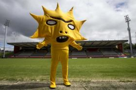 Partick Thistle's new mascot, Kingsley.