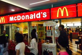 An elderly lady has been seen at this Mcdonald's outlet (above) at Toa Payoh Hub for the last few years asking people to buy her a meal.