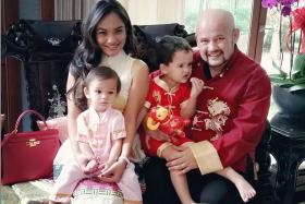 FAMILY: (Above) Malaysian comedian Harith Iskander with his wife Dr Jezamine Lim, son Zander Xayne and daughter Alessandrea Jayne.