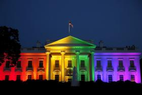 The White House is illuminated in rainbow colors after the US Supreme Court legalised gay marriage.