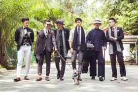 WELL-GROOMED: (From left) The Pride members Daren Tan, Nick Chong, Kevin Ou, Benjamin Kheng, Eugene Lim and Nicholas Cho.