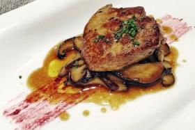 Roasted & poached foie gras ($24)