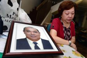 LOSS: Madam Ang Kim Heok (above) is still heartbroken over the loss of her husband, Mr Toh Hno Soi. He died in a road accident on Dec 23 on the Bukit Timah Expressway.