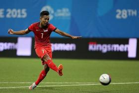 POOR TOURNAMENT: Sahil Suhaimi (above) managed only one goal in three matches for the Singapore Under-23s at the SEA Games.