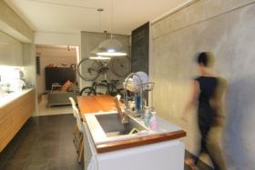 Interior of a renovated HDB flat in Geylang.