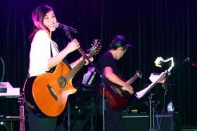 Tanya Chua at the AMPed Showcase at Shanghai Dolly