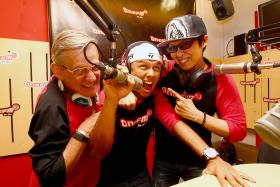 THEY'RE BACK: Former on-air partners Flying Dutchman (far left) and Glenn Ong will join Andre Hoeden (centre) on the breakfast show on ONE FM 91.3.