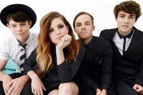 Indie-pop sibling quartet Echosmith: (left to right) Graham Sierota, Sydney Sierota, Jamie Sierota, Noah Sierota