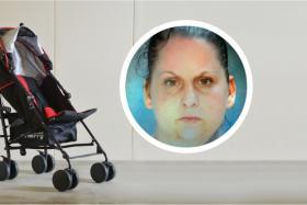 File photo of a stroller. (Inset) Nicole Pumphrey.