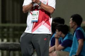 """""""I'm weighing all options for now during my break. Deep down, I have Singapore football at heart, whatever role it is."""" - Aide Iskandar (above), who quit as coach of the Singapore U-23s after the group-stage exit at last month's SEA Games"""