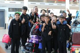 WE CAN DO IT! Despite a 20-hour journey, the F-17 Academy boys are ready and raring to go for Gothia Cup glory after touching down in Gothenburg, Sweden.