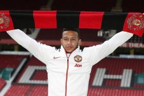 STAR-STUDDED: Man United have signed Memphis Depay (above), Matteo Darmianand Bastian Schweinsteiger.