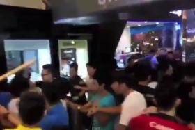 A shoplifting incident triggered a huge brawl at the Low Yat Plaza in Bukit Bintang, Malaysia, on July 11, 2015. The incident spiraled out of control when seven men returned to take revenge on the shop assistant who caught the alleged shoplifter.