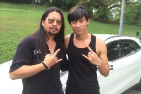 (L-R): Lawyer Josephus Tan with local actor Desmond Tan.