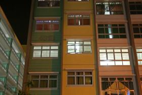 HIGH-RISE DRAMA: The block at Yishun Avenue 1 where the incident happened. The man is believed to have climbed from a seventh-storey unit into Madam Suhadah Jumadi's unit on the sixth storey using a rope made of bedsheets or curtains