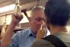 BULLY: Mr Muhammad Hanafie stood up against the man, who was verbally abusive towards another commuter in the MRT train.