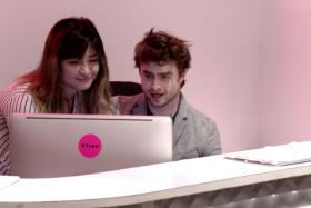Harry Potter star Daniel Radcliffe tried his hand at being a receptionist for Nylon Magazine for an hour. It didn't go too well.