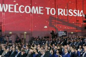 BACKING: Sepp Blatter says Fifa has trust and confidence in Russia at the draw for the qualifying phase of the 2018 World Cup in St Petersburg (above).