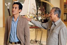 DEBUT: Former Malaysian prime minister Mahathir Mohamad (right) makes his big-screen debut in Kapsul, starring Faizal Hussein (left).