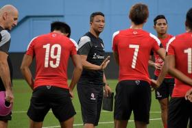 STEP ON THE PEDAL: That is coach Fandi Ahmad's instruction to his charges for tonight's game against Felda.