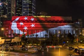 The facade of The Fullerton Hotel will be used as a canvas that feature key moments in Singapore's history.