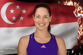 Serbian tennis player Ana Ivanovic was one of the WTA stars who wished Singapore a happy 50th birthday in a video.