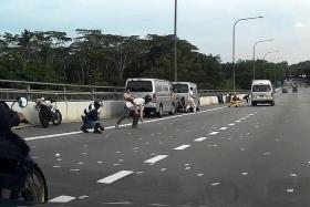 RUSH: Motorists picking up the notes that were strewn all over the BKE.
