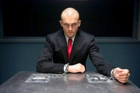 Rupert Friend in Hitman: Agent 47, which was shot in Singapore.