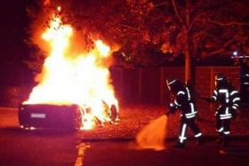 FRAUD: The Ferrari owner paid three men to set fire to his car so that he could claim insurance money.