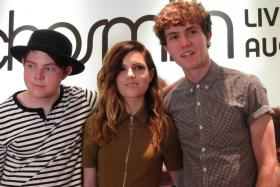 US rock/indie pop band Echosmith is made up of Sierota siblings (from left) Graham, Sydney, Noah and Jamie (not in picture).