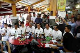 REVISED: The People's Action Party announced its Bishan-Toa Payoh GRC line-up yesterday at a coffee shop.